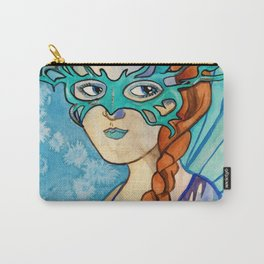 Fairy Masquerade - Turquoise Carry-All Pouch