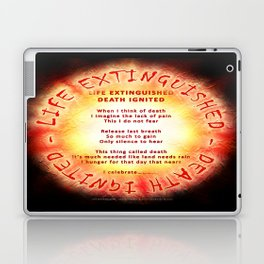 LIFE EXTINGUISHED - DEATH IGNITED - 060 Laptop & iPad Skin