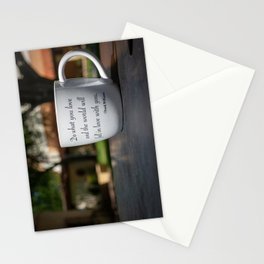 Color Chuck Williams Coffee Mug Quote Rollins College Winter Park Florida Orlando Words of Wisdom Stationery Cards
