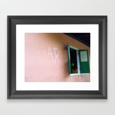 Bar in remote Laos Framed Art Print