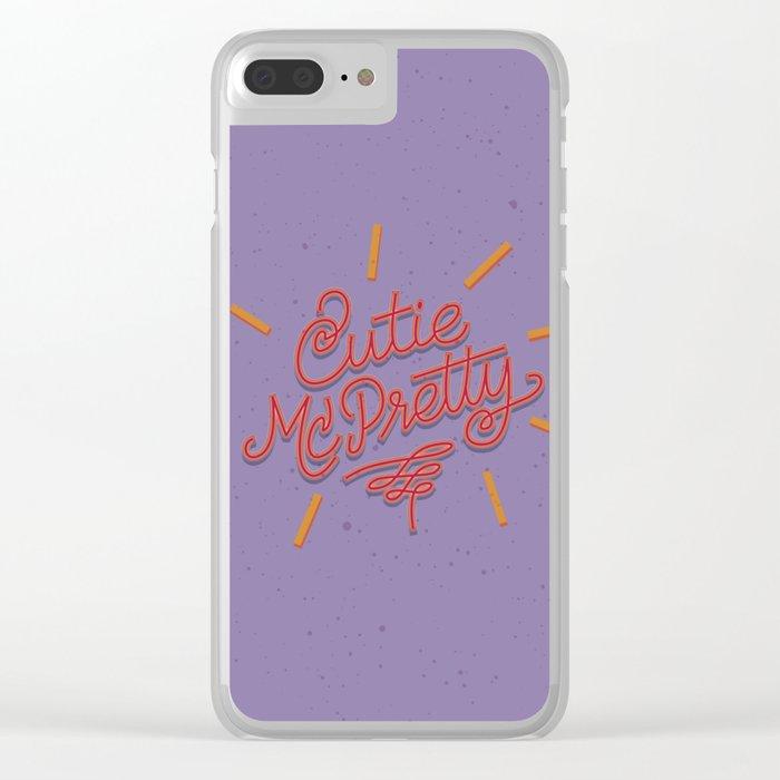 Cutie McPretty Clear iPhone Case