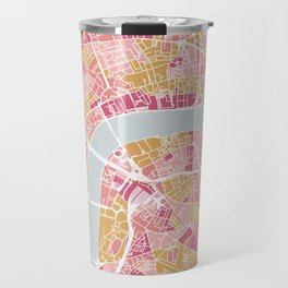 Colorful London map Travel Mug