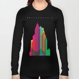Shapes of Philadelphia accurate to scale Long Sleeve T-shirt