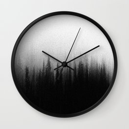 Black Ombre Misty Forest Wall Clock