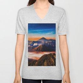 Mount Bromo Unisex V-Neck