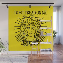 Medusa: Don't Tread On Me (Yellow) Wall Mural