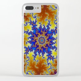 Fractal Checkerboard Clear iPhone Case