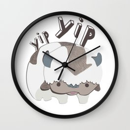 let's go! yip yip Wall Clock
