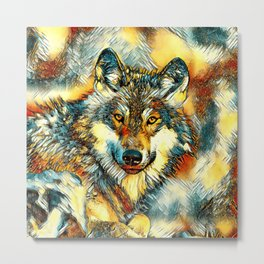 AnimalArt_Wolf_20170601_by_JAMColorsSpecial Metal Print
