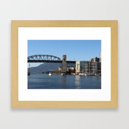 Burrard Bridge Framed Art Print