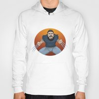 chad wys Hoodies featuring Chad-verine by Art By Someone