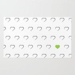 Hearts - Green Rug