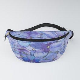 Watercolour Hydrangea Fanny Pack