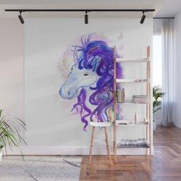 Fantasy unicorn portrait Wall Mural