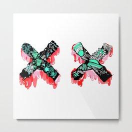 X Marks The Spot Metal Print