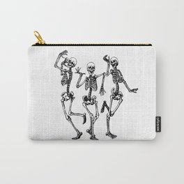 Three Dancing Skulls Carry-All Pouch