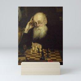 Grigoriy Myasoyedov - Chess with himself Mini Art Print