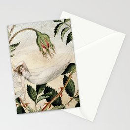 """A Fairy Resting in a Hammock"" by Amelia Jane Murray Stationery Cards"