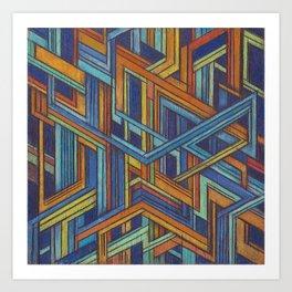 Emerge - Wood Series 3 Art Print