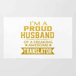 I'M A PROUD TRANSLATOR'S HUSBAND Rug