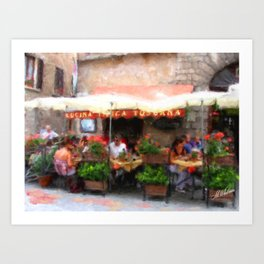 European Cafe Montepulciano Art Print