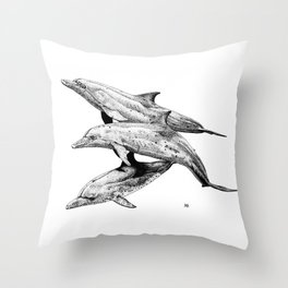 Juvenile Atlantic Spotted Dolphins Throw Pillow