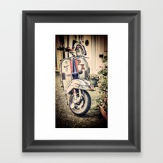 Vintage Moped Framed Art Print