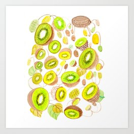 Kiwi Kiwi Art Print