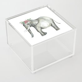 Ellie the Elephant and her flower crown Acrylic Box