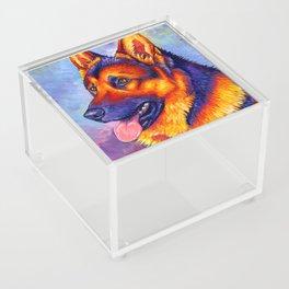 Colorful German Shepherd Dog Acrylic Box