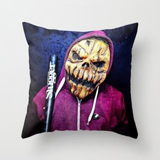 Smashing Pumpkin Portrait Throw Pillow