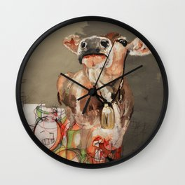 Needs More Cowbell Wall Clock