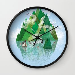 Mysterious Island Wall Clock