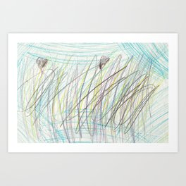 Bounded In Love Colored Pencils Art Print
