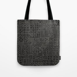 Abstract Pattern in Midnight Tote Bag