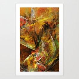 Losin the Paper Illusions Art Print