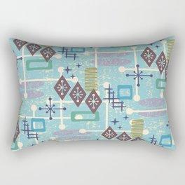 Retro Mid Century Modern Atomic Abstract Pattern 245 Rectangular Pillow