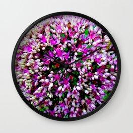 Butterfly Stonecrop Wall Clock