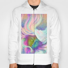 Rainbow Girl   Colourful Lady   Painting   Poster Hoody