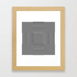 Insane Stripes Remix 3 Framed Art Print