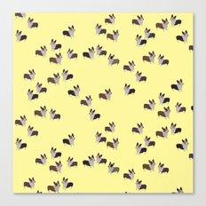 yellow corgis Canvas Print