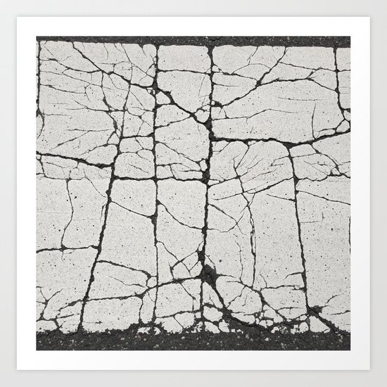 Cracked Crossing Art Print