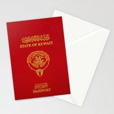 Kuwaiti Pass Port Red Stationery Cards