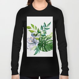 Flower and Leaves Long Sleeve T-shirt