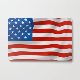 Classic Flag of the USA for Veterans Day Metal Print