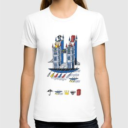 Tower of London Bridge and Rowing T-shirt