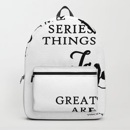 Great Things Are Done Vincent Van Gogh Quote Ar Backpack