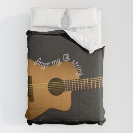 Finger my G string guitar Comforters