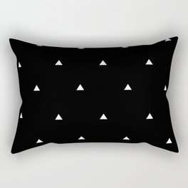 White and Black Triangles Rectangular Pillow