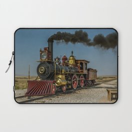 UP 119 Golden Spike Utah Steam Locomotive Historic Train Laptop Sleeve